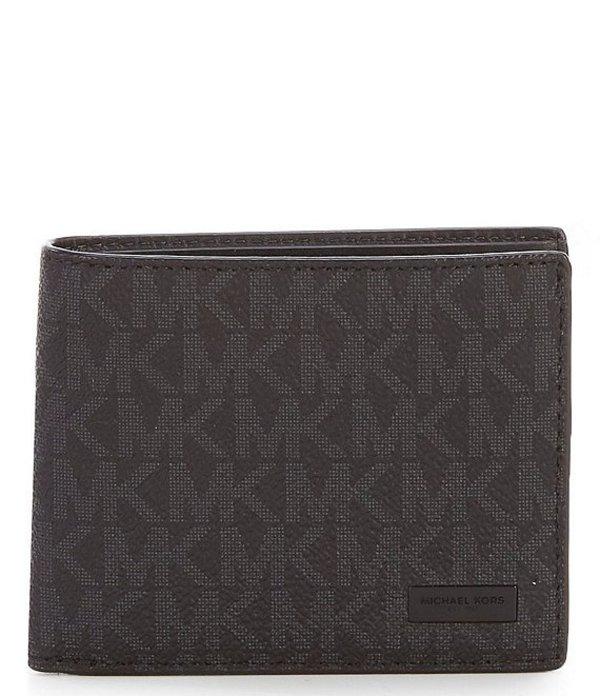 マイケルコース レディース ハンドバッグ バッグ MICHAEL Michael Kors Jet Set Logo Slim Billfold Wallet Black
