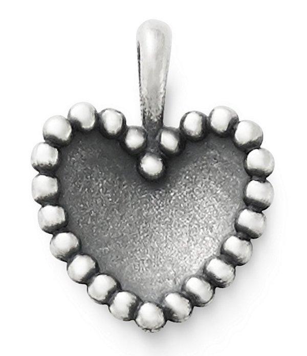 ジェームズ エイヴリー レディース ネックレス・チョーカー アクセサリー Beaded Heart Pendant Sterling Silver