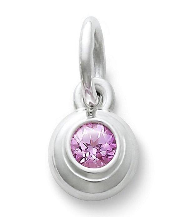 ジェームズ エイヴリー レディース ネックレス・チョーカー アクセサリー Remembrance Pendant October Birthstone with Pink Sapphire Sterling Pink