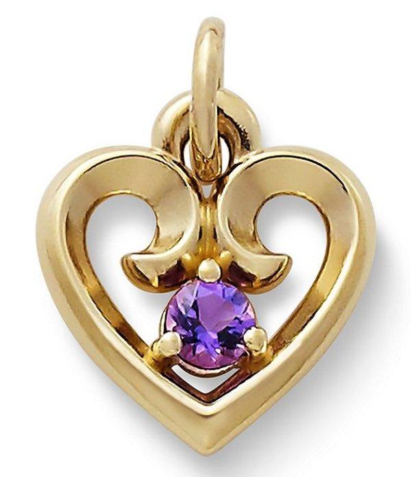 ジェームズ エイヴリー レディース ネックレス・チョーカー アクセサリー Avery February Amethyst Birthstone Remembrance Heart Pendant Gold/Purple