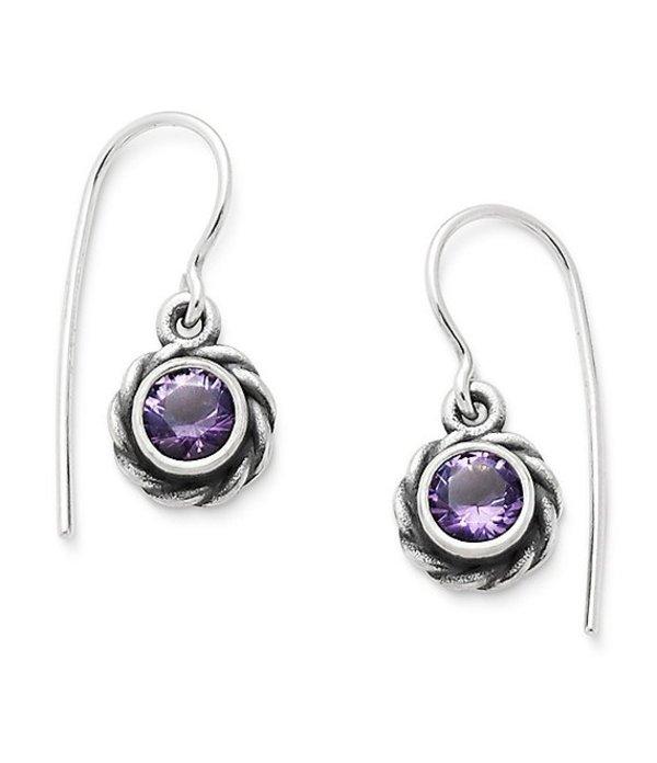 ジェームズ エイヴリー レディース ピアス・イヤリング アクセサリー Elisa Ear Hooks February Birthstone with Amethyst Silver/Purple