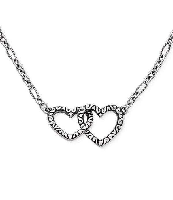 ジェームズ エイヴリー レディース ネックレス・チョーカー アクセサリー Hearts Together Necklace Sterling Silver