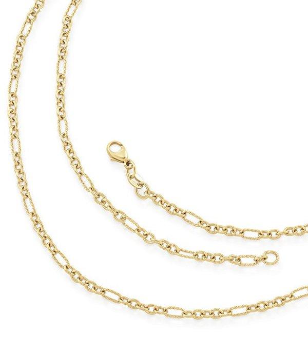 ジェームズ エイヴリー レディース ネックレス・チョーカー アクセサリー Medium Cable Figaro Chain 14k Gold