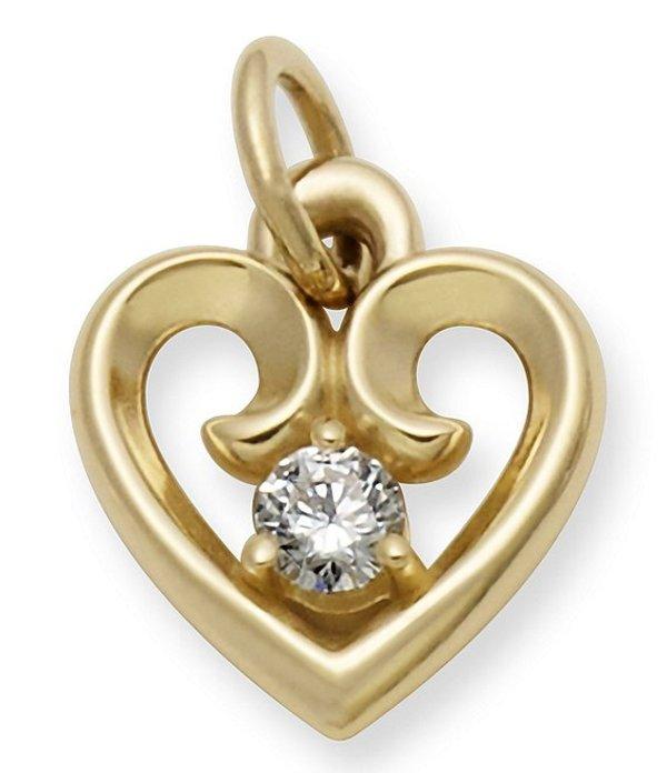 ジェームズ エイヴリー レディース ネックレス・チョーカー アクセサリー Remembrance Heart Pendant with Diamond Diamond/Gold