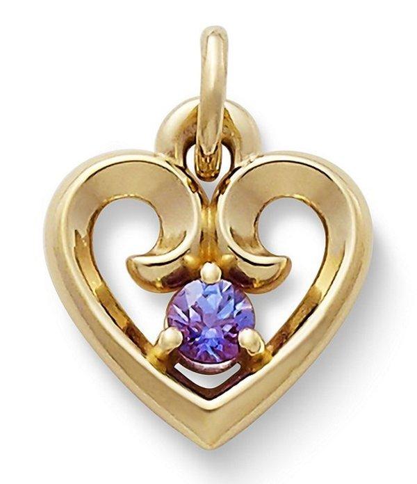 ジェームズ エイヴリー レディース ネックレス・チョーカー アクセサリー Remembrance Heart Pendant with Lab-Created Alexandrite Alexandrite/Gold