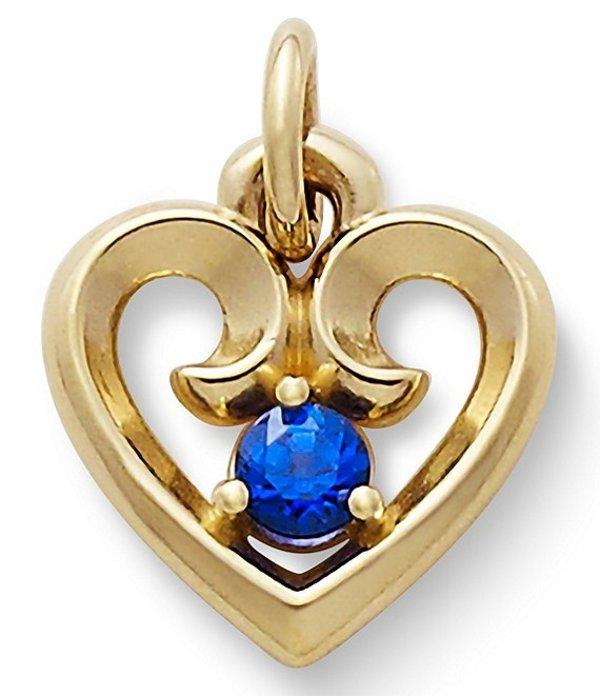 ジェームズ エイヴリー レディース ネックレス・チョーカー アクセサリー Remembrance Heart Pendant with Lab-Created Blue Sapphire Blue Sapphire/Gold