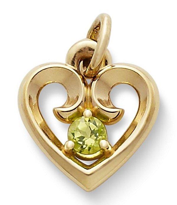 ジェームズ エイヴリー レディース ネックレス・チョーカー アクセサリー Remembrance Heart Pendant with Peridot Peridot/Gold