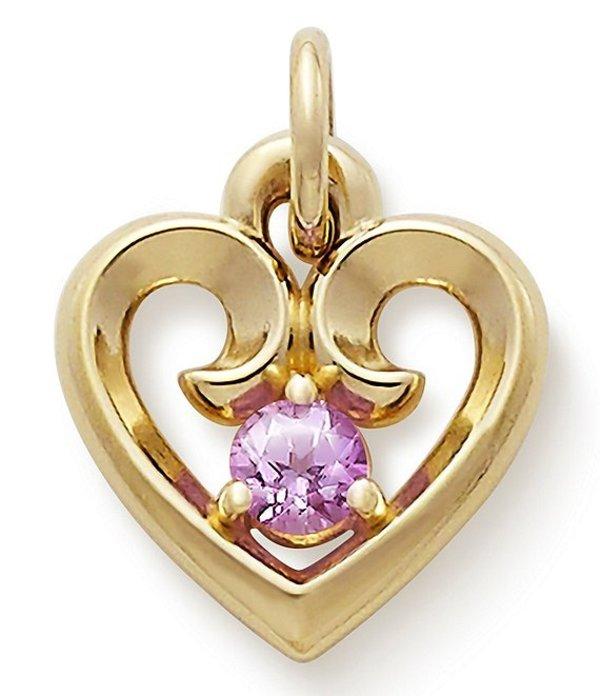 ジェームズ エイヴリー レディース ネックレス・チョーカー アクセサリー Remembrance Heart with Lab-Created Pink Sapphire Pink Sapphire/Gold