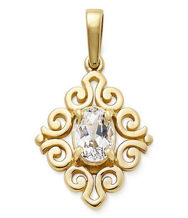 ジェームズ エイヴリー レディース ネックレス・チョーカー アクセサリー 14K Gold April Birthstone Scrolled Pendant Gold