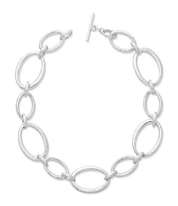 ジェームズ エイヴリー レディース ネックレス・チョーカー アクセサリー Hammered Links Necklace Sterling Silver