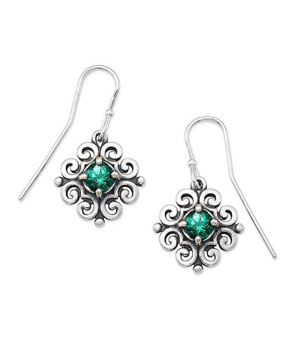 ジェームズ エイヴリー レディース ピアス・イヤリング アクセサリー Scrolled Ear Hooks with May Birthstone Sterling Emerald