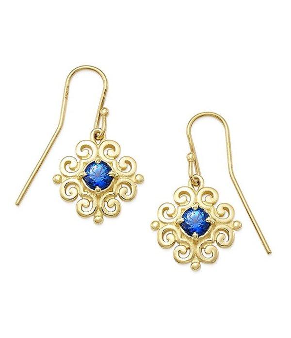 ジェームズ エイヴリー レディース ピアス・イヤリング アクセサリー 14K Gold Scrolled Ear Hooks with September Birthstone 14K Gold Blue Sapphire