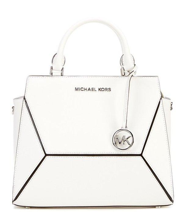 マイケルコース レディース ハンドバッグ バッグ MICHAEL Michael Kors Prism Large Top Handle Satchel Bag Optic White