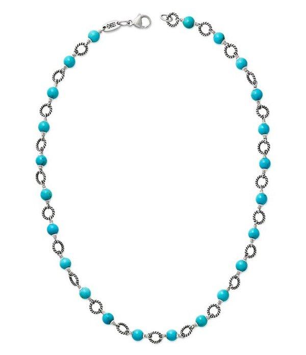 ジェームズ エイヴリー レディース ネックレス・チョーカー アクセサリー Twisted Wire Link Necklace with Turquoise Sterling Turquoise
