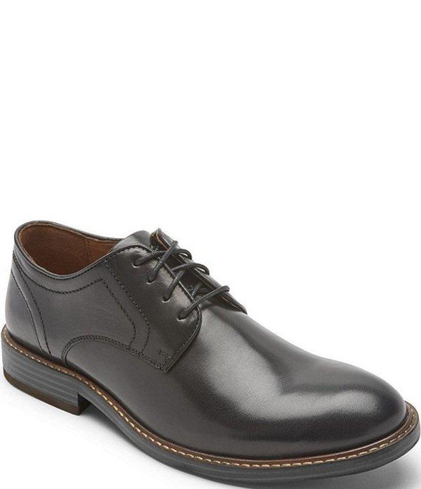 ロックポート メンズ ドレスシューズ シューズ Men's Kenton Leather Plain Toe Shoes Black Glass