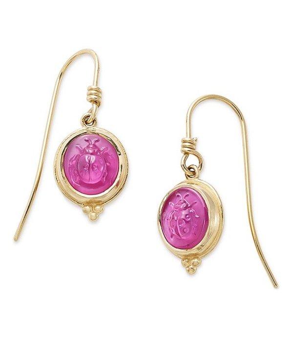 ジェームズ エイヴリー レディース ピアス・イヤリング アクセサリー Sculpted Ladybug Pink Triplet Earrings 14K Gold Pink