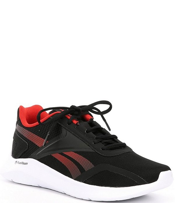 リーボック メンズ ドレスシューズ シューズ Men's Energylux 2.0 Mesh Running Shoes Black/Legacy Red/White
