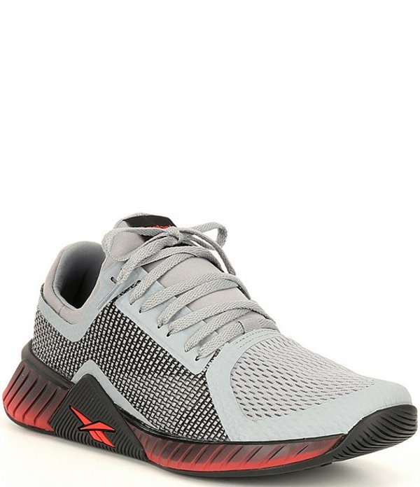 リーボック メンズ スニーカー シューズ Men's Flashfilm Woven Trainers Powder Grey/Black/Radiant Red