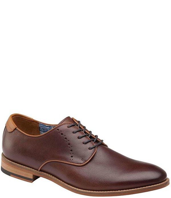 ジョンストンアンドマーフィー メンズ ドレスシューズ シューズ Men's Milliken Leather Plain Toe Oxfords Mahogany