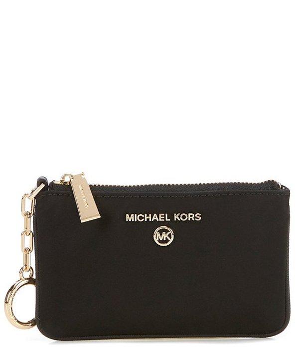 マイケルコース レディース ハンドバッグ バッグ MICHAEL Michael Kors Jet Set Charm Extra-Small Nylon Key Card Case Black