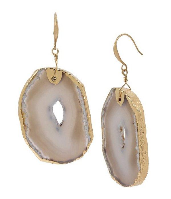 ロバート リー モーリス レディース ピアス・イヤリング アクセサリー Agate Stone Drop Earrings Brown
