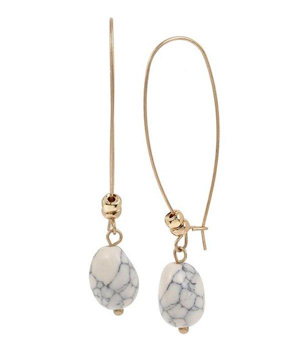 ロバート リー モーリス レディース ピアス・イヤリング アクセサリー Stone Bead Long Drop Earrings White