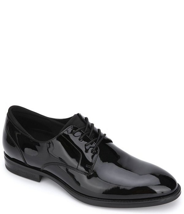 ケネスコール メンズ ドレスシューズ シューズ Men's Futurepod Patent Leather Lace Up Plain Toe Oxfords Black