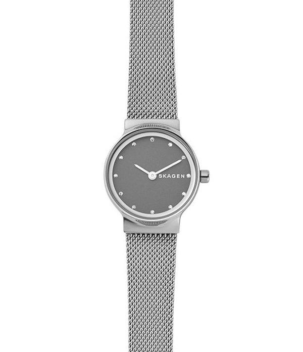 スカーゲン レディース 腕時計 アクセサリー Freja Analog Mesh Bracelet Watch Silver