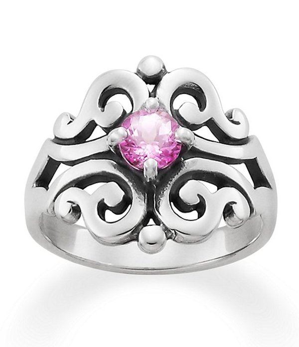 ジェームズ エイヴリー レディース 指輪 アクセサリー Spanish Lace Ring October Birthstone with Lab-Created Pink Sapphire Sterling Silver/Pink