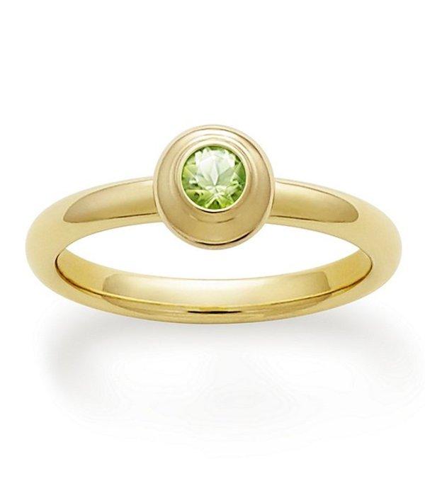 ジェームズ エイヴリー レディース 指輪 アクセサリー Remembrance Ring August Birthstone with Peridot Gold Peridot