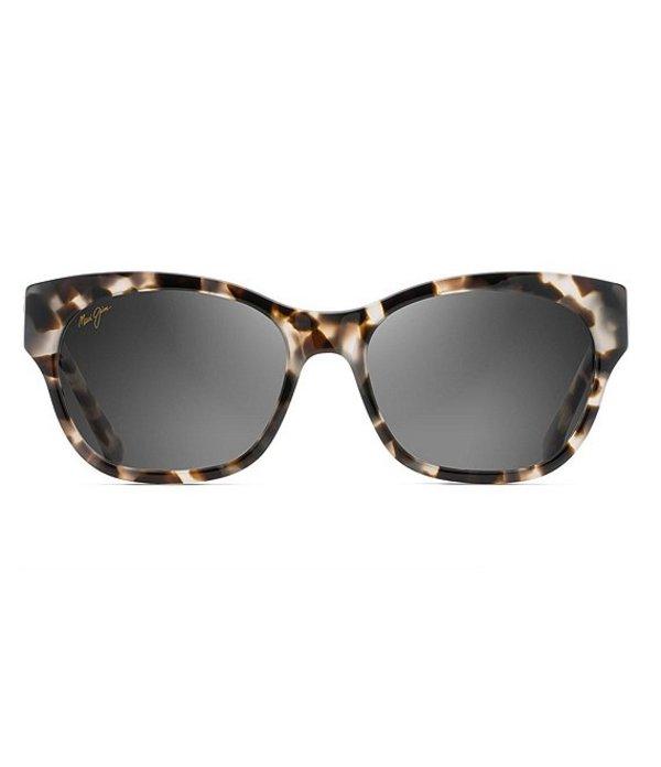 マウイジム レディース サングラス・アイウェア アクセサリー Monstera Leaf Polarized Fashion Sunglasses White Tokyo 24K Gold