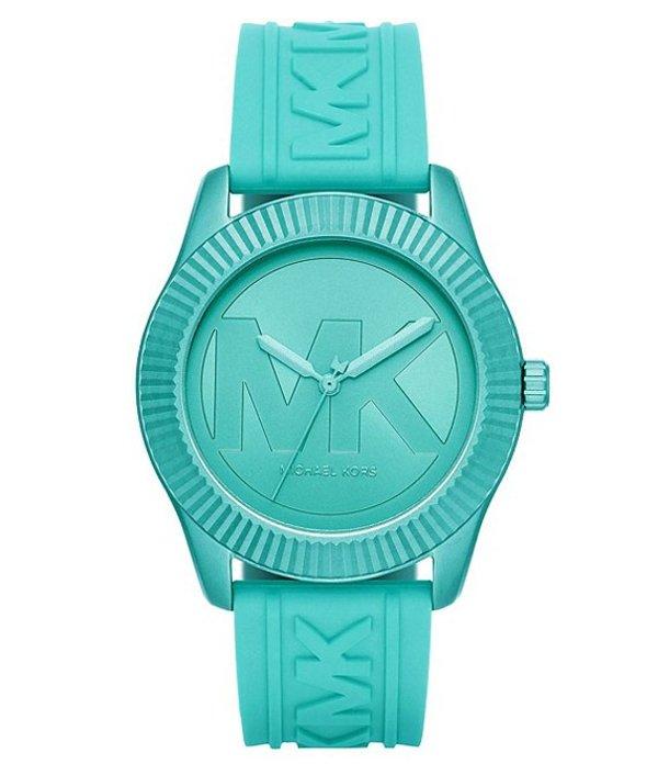 マイケルコース レディース 腕時計 アクセサリー Maddye Three-Hand Aqua Silicone Watch Aqua