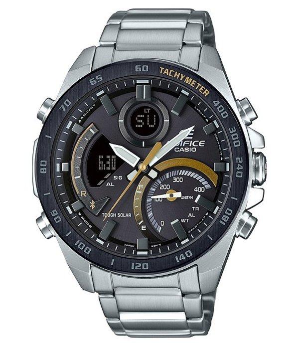 ジーショック メンズ 腕時計 アクセサリー Edifice Ana-Digi Stainless Steel Watch Silver