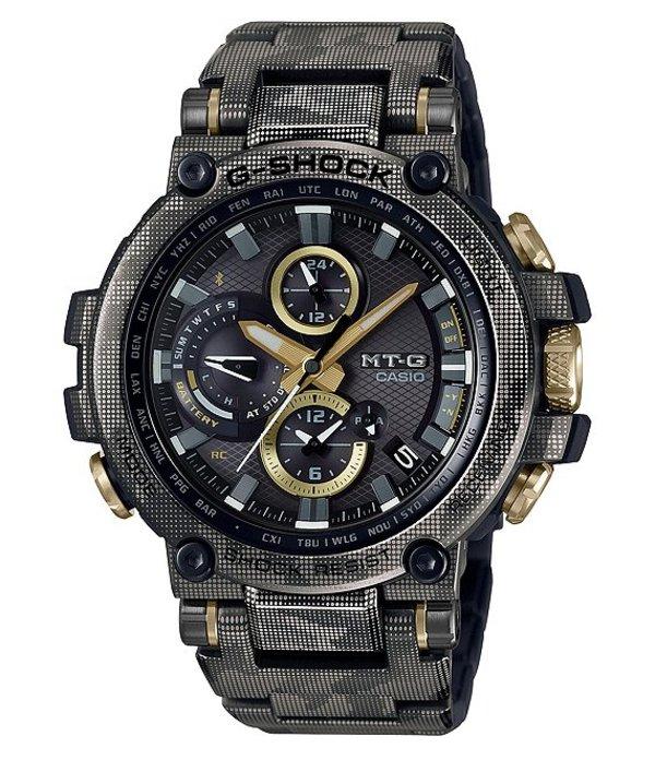 ジーショック メンズ 腕時計 アクセサリー MT-G Connected Camouflage Stainless Steel Watch Camo