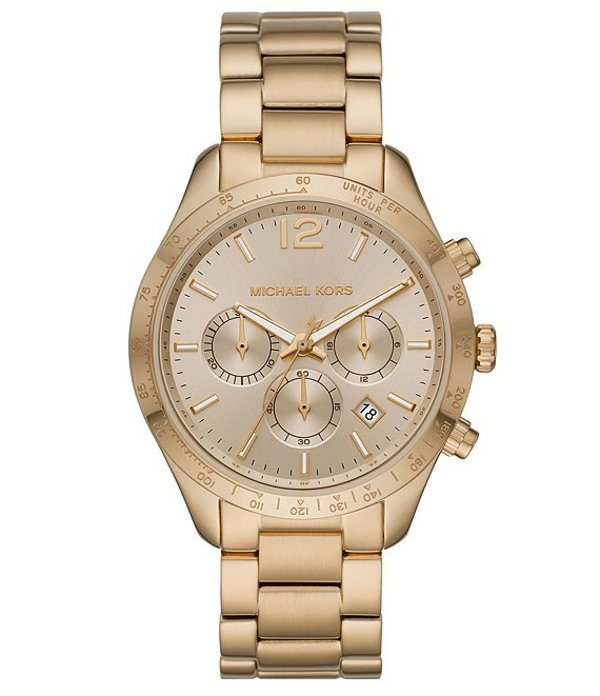 マイケルコース レディース 腕時計 アクセサリー Layton Chronograph Gold-Tone Stainless Steel Watch Gold