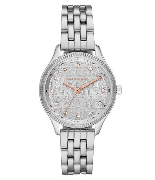 マイケルコース レディース 腕時計 アクセサリー Lexington Signature Three-Hand Stainless Steel Watch Silver