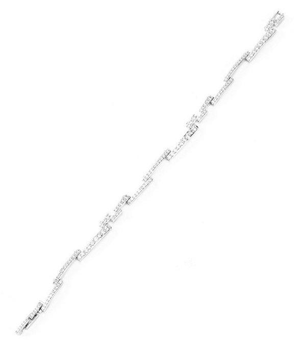 ナディール レディース ブレスレット・バングル・アンクレット アクセサリー Pave Bar Line Bracelet Rhodium