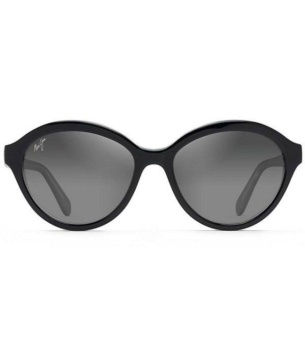 マウイジム レディース サングラス・アイウェア アクセサリー Mariana PolarizedPlus2R Fashion 55mm Sunglasses Black with Crystal Interior