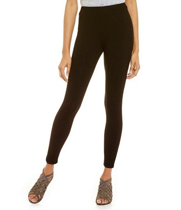 エイリーンフィッシャー レディース カジュアルパンツ ボトムス Essentials Stretch Jersey Ankle Leggings Black