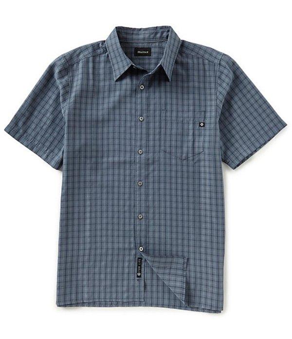 マーモット レディース シャツ トップス Eldridge Check Short-Sleeve Woven Shirt Steel Onyx