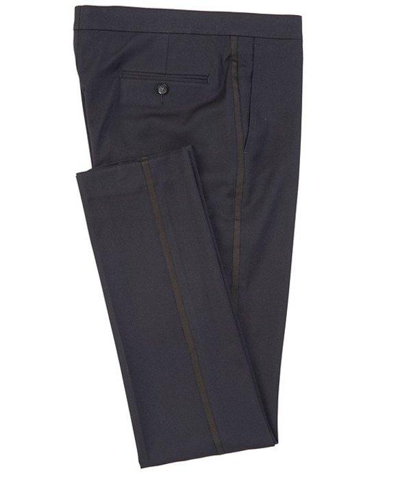 ムラノ レディース ワンピース トップス Evan Extra Slim-Fit Flat-Front Fancy Dobby Dress Pants Navy