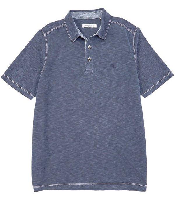 トッミーバハマ レディース シャツ トップス Palm Paradise Short-Sleeve Polo Shirt Denim