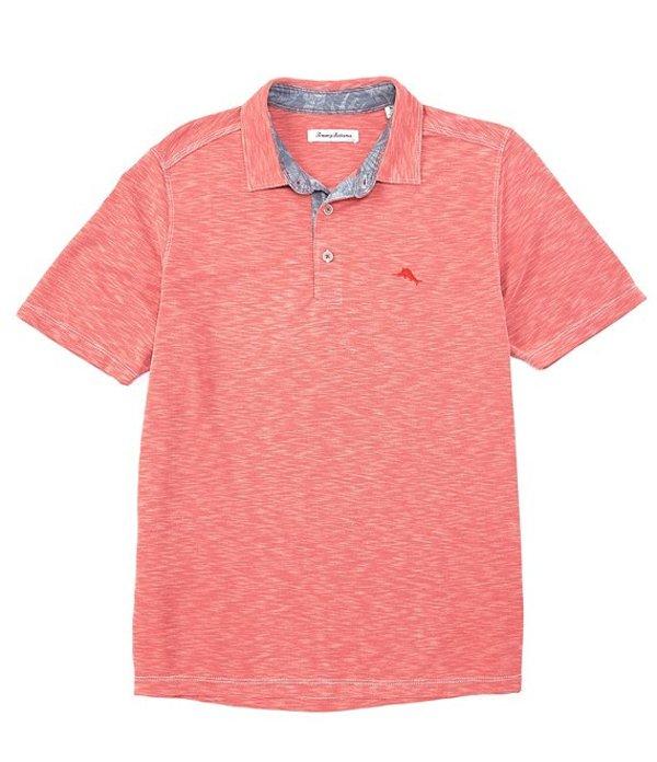トッミーバハマ レディース シャツ トップス Palm Paradise Short-Sleeve Polo Shirt Pink