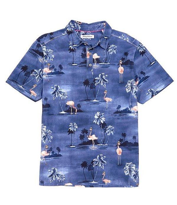 トッミーバハマ レディース シャツ トップス Flow Mingle Short-Sleeve Polo Shirt Dockside Blue