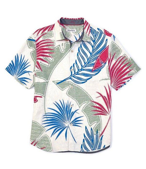 トッミーバハマ レディース シャツ トップス Deco Palmetto Short-Sleeve Woven Shirt Continental