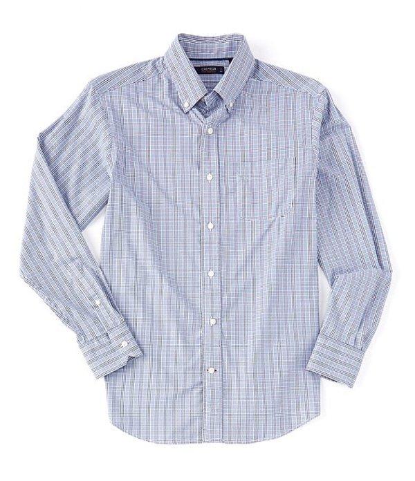 ダニエル クレミュ レディース シャツ トップス Performance Plaid Long-Sleeve Woven Shirt Navy Blazer