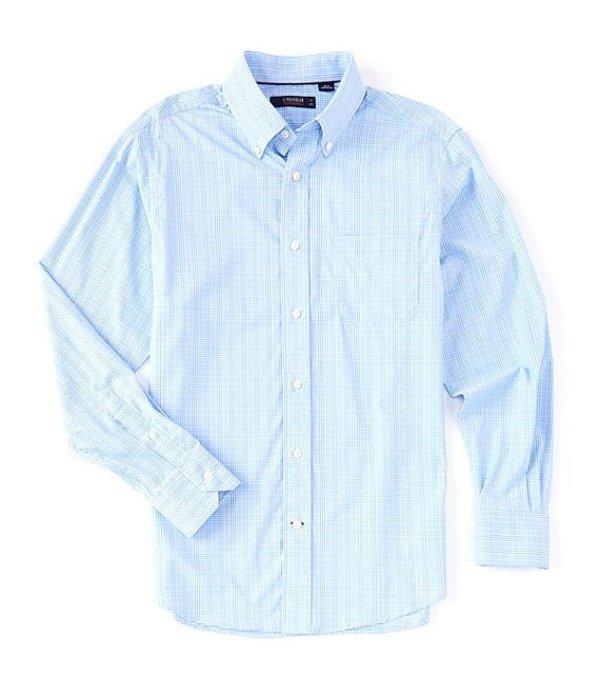 ダニエル クレミュ レディース シャツ トップス Performance Plaid Long-Sleeve Woven Shirt Periwinkle