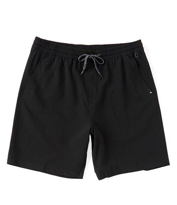 クイックシルバー レディース ハーフパンツ・ショーツ ボトムス Union Elastic Amphibian Hybrid 18#double; Outseam Shorts Black
