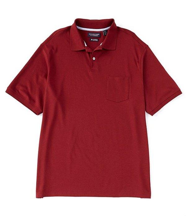 ラウンドトゥリーアンドヨーク レディース シャツ トップス Short-Sleeve Supima Solid Polo Red