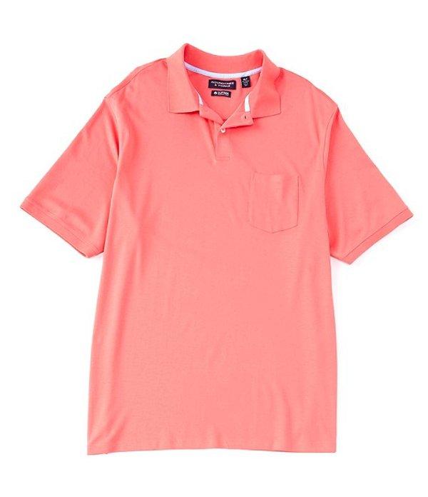 ラウンドトゥリーアンドヨーク レディース シャツ トップス Big & Tall Short-Sleeve Supima Solid Polo Pink Coral